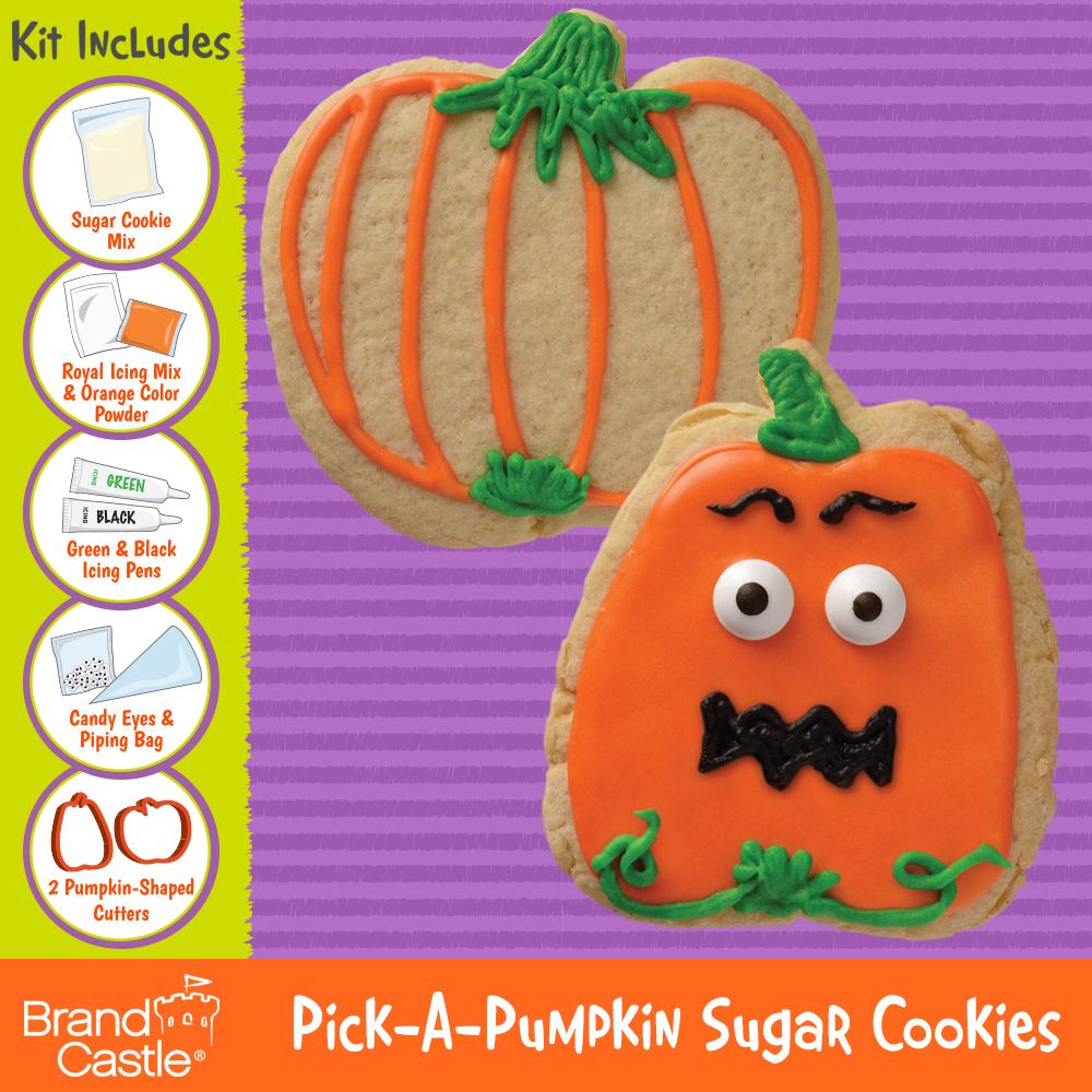 pick a pumpkin sugar cookie kit crafty cooking kits