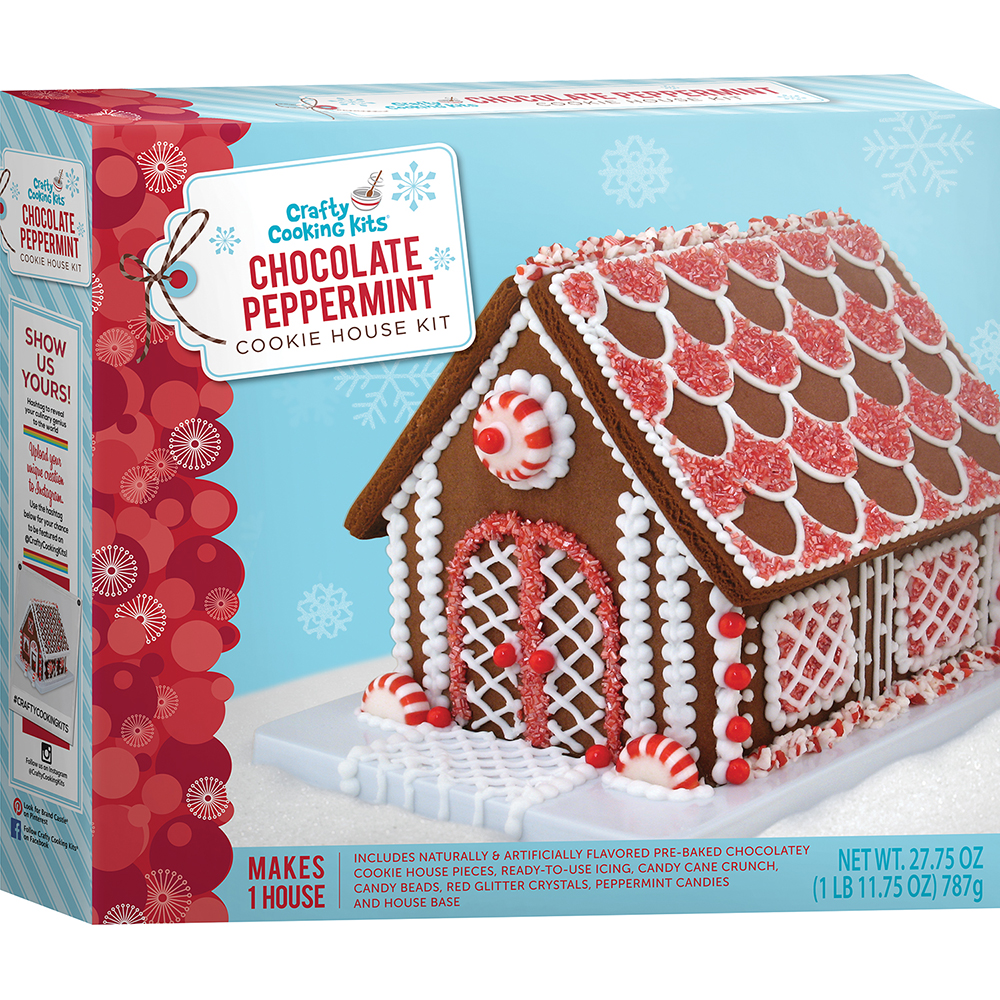 Chocolate Peppermint Cookie House Kit Crafty Cooking Kits