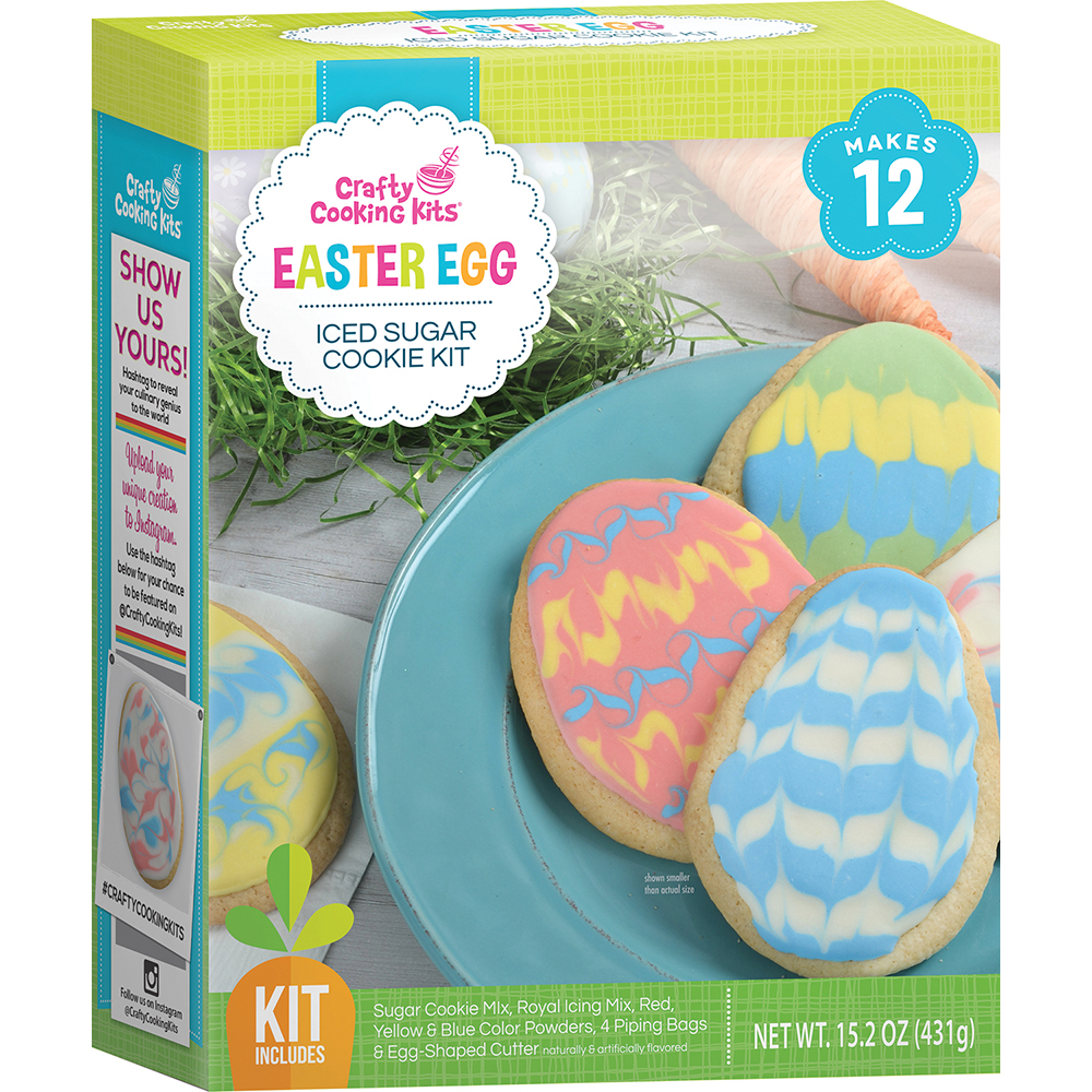 Easter Eggs Decoration Kit By Cocoapod: Easter Egg Iced Sugar Cookie Kit