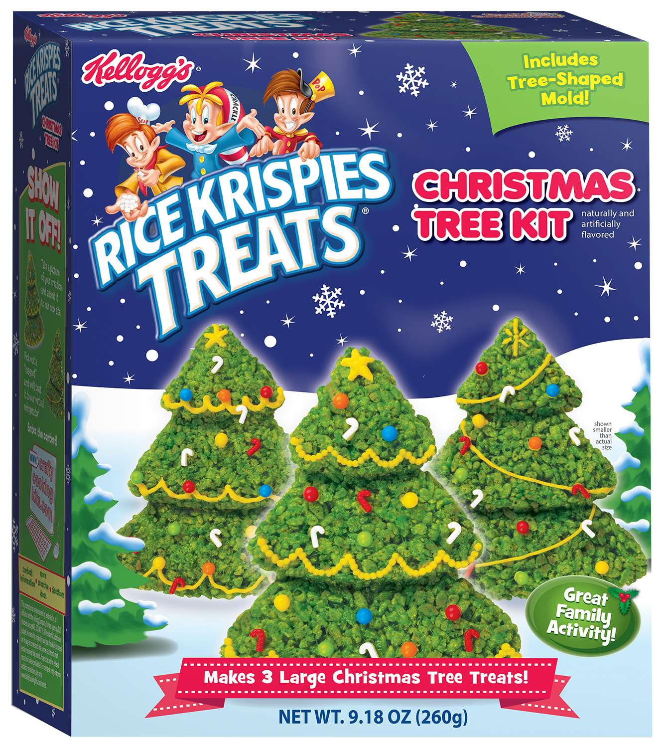 kelloggs rice krispies treats christmas trees kit