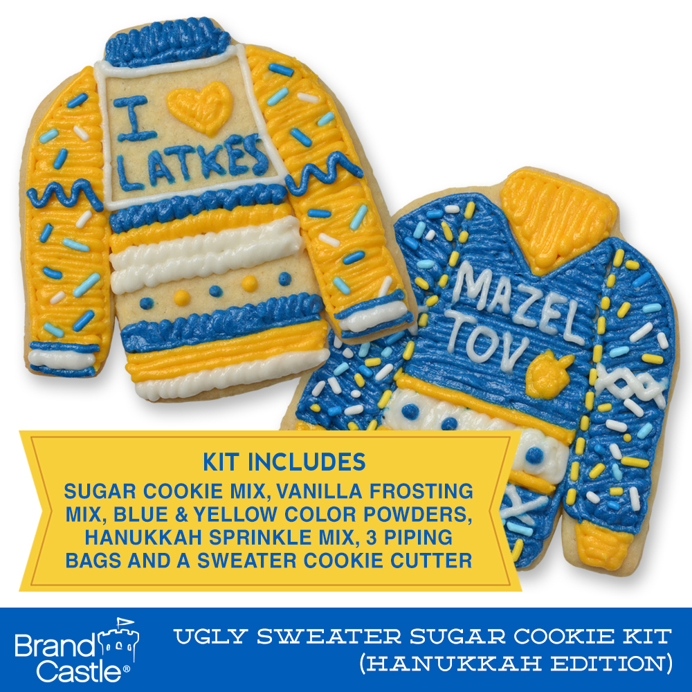 Ugly Sweater Sugar Cookie Kit Hanukkah Edition Crafty Cooking Kits