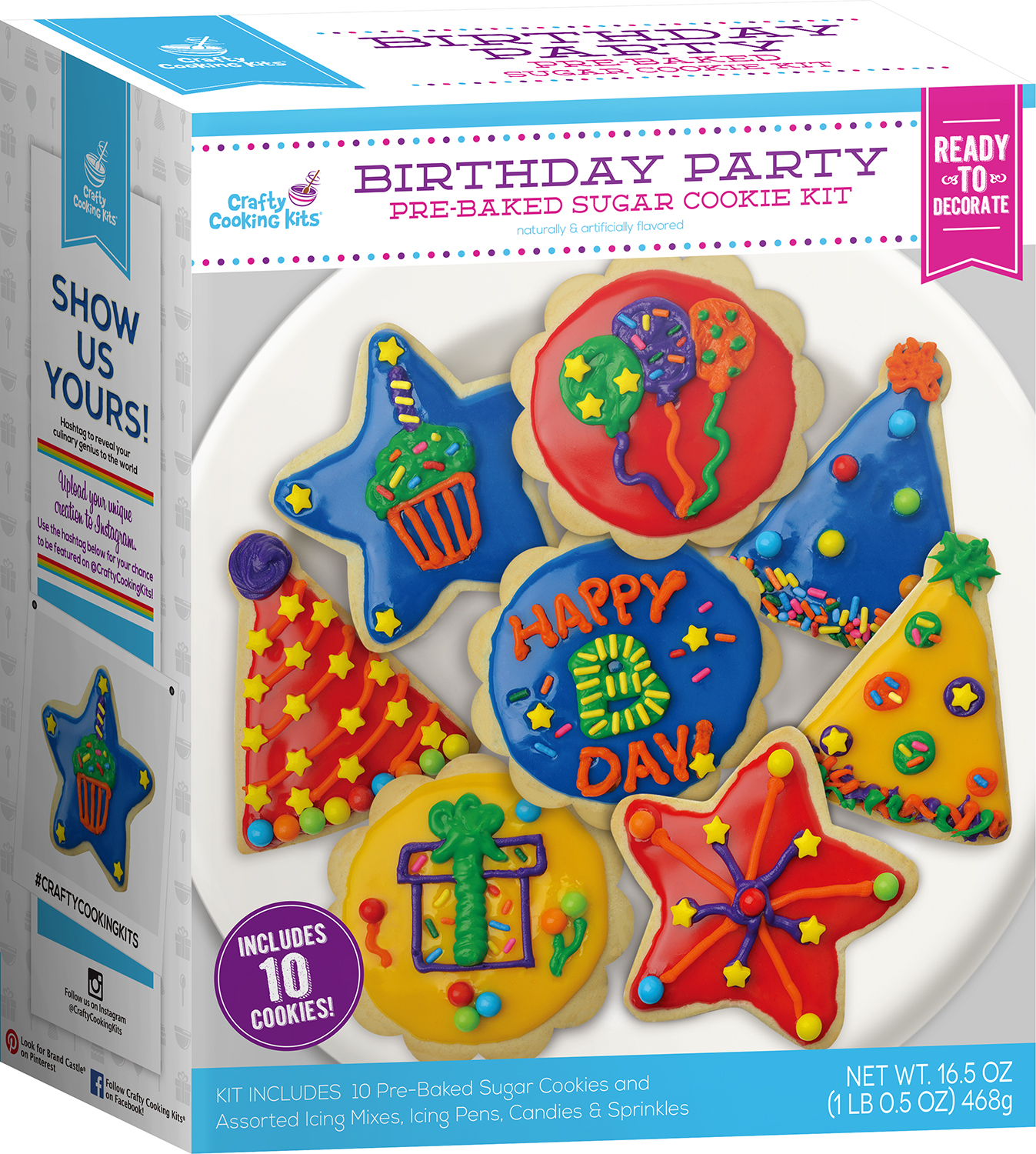 Other Baking Accessories Home & Garden Crafty Cooking Kits Gingerbread Cookie Jar Decorating Kit !!